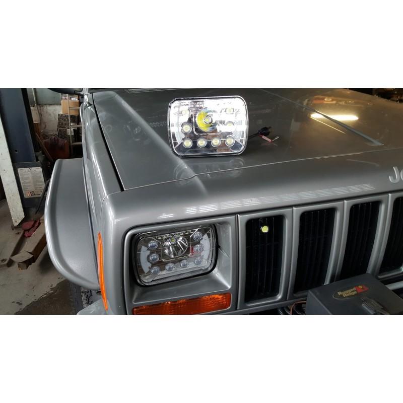 phare led 5x7 39 39 jeep wrangler yj cherokee xj promeca 31. Black Bedroom Furniture Sets. Home Design Ideas