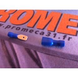 Cosse électrique isolé a sertir Mâle Femelle Bleu