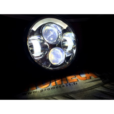 """HD LED RING MOTO 5 3/4"""" ECLAIRAGE COMBINEE CERCLAGE LUMINEUX"""